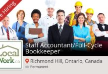 Bookkeeper needed in Canada