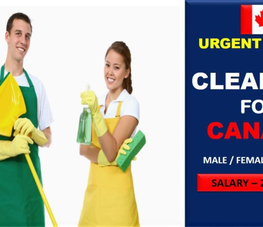 Building Cleaner needed in Canada